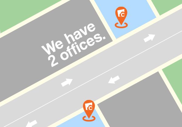 We have 2 Offices!